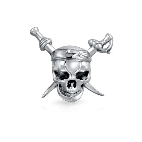 skull and charms pirate skull crossbones bead fits pandora charms sterling