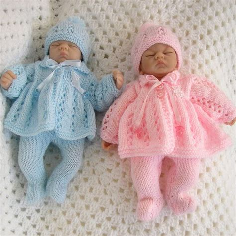 baby doll knitting patterns uk knitting pattern matinee set for premature baby 2 3lb 10