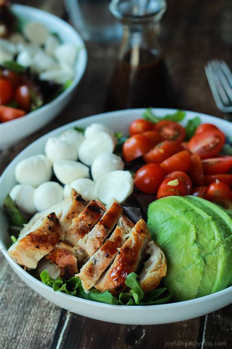 easy light ideas 15 minute avocado caprese chicken salad with balsamic