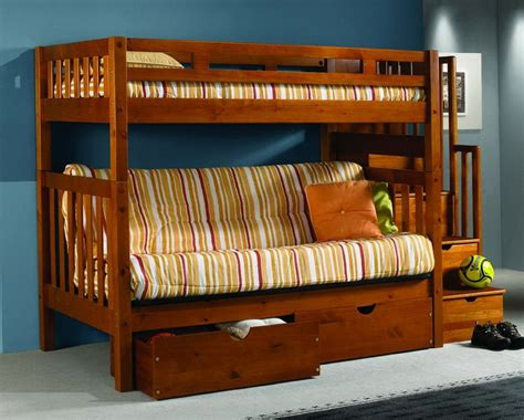 bunk bed frame with futon wooden futon bunk beds