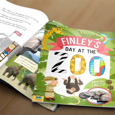 zoo picture book personalised my day at the zoo softback book my gifts