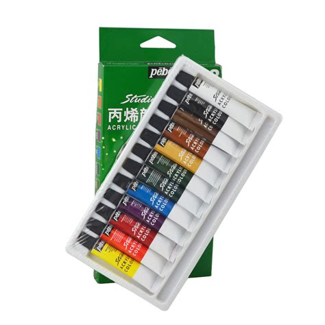 acrylic painting supplies pebeo brand 12 colors acrylic paints decorated