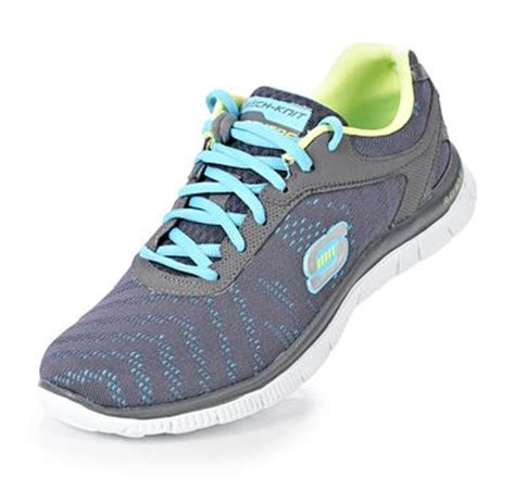 skechers skech knit memory foam skechers sport flex appeal single layer skech knit with