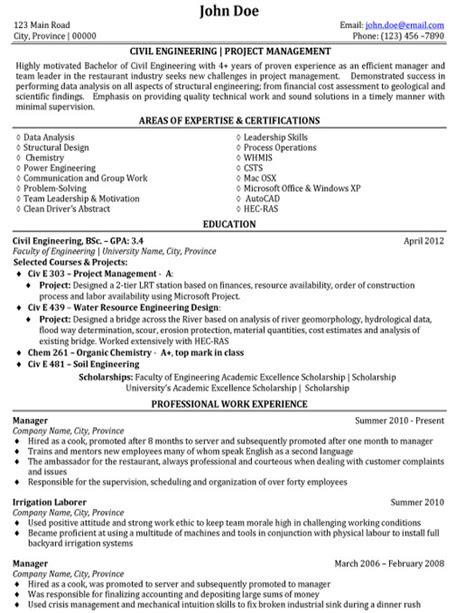 civil engineer resume sample amp template