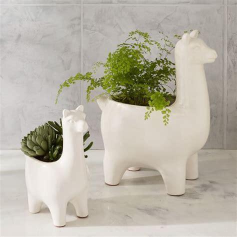 large ceramic planter ceramic llama planters west elm