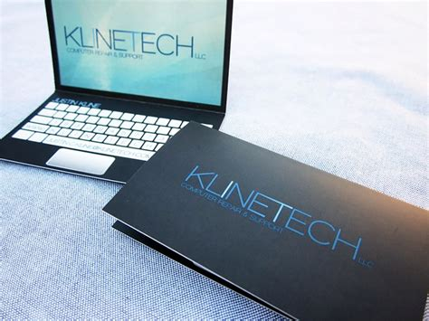 cards on the computer laptop business card