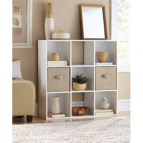 mainstays 9 cube organizer furniture storage white