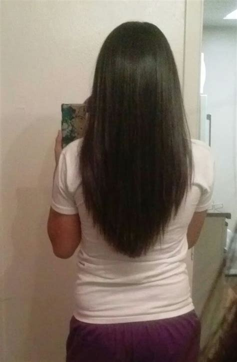 hair cut with a defined point in the back pinterest the world s catalog of ideas