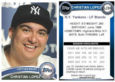 who makes baseball cards is topps fan who gave to jeter gets own