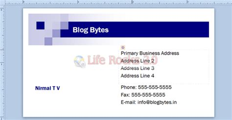 make a bussiness card how to create business cards in publisher 2010 best