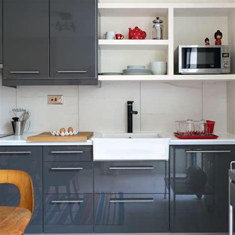 grey gloss kitchen cabinets modern high gloss grey kitchen kitchen decorating