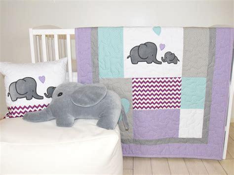 purple chevron crib bedding elephant baby quilt gray purple teal crib bedding purple