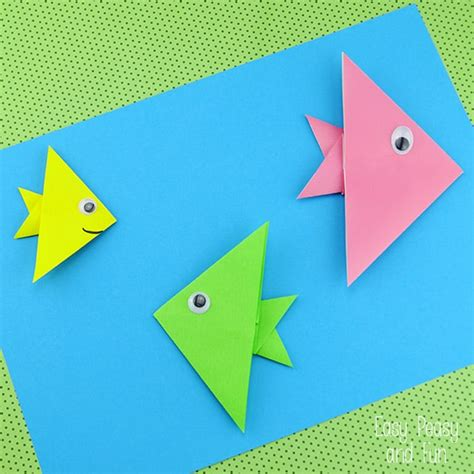 how to make a origami easy step by step easy origami fish origami for easy peasy and