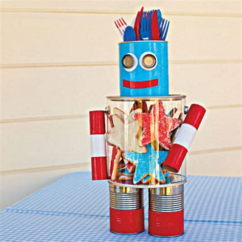 robot crafts for craft it a robot centerpiece for the 4th of july