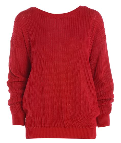 how to knit a jumper womens plain colour baggy jumper chunky sweater