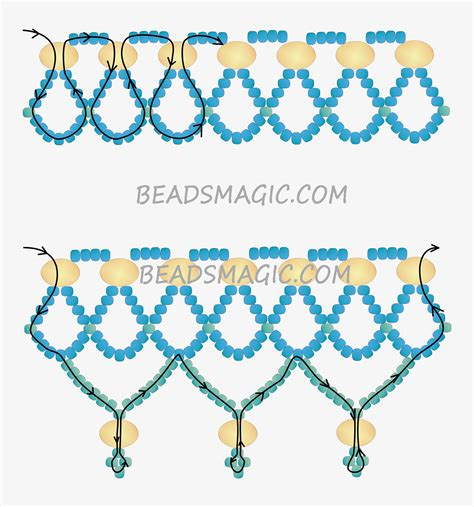 2 bead patterns free pattern for necklace 2 bead weaving tutes