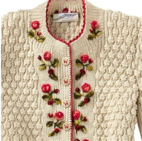 how to embroider on knitted projects mariette s back to basics my knitted