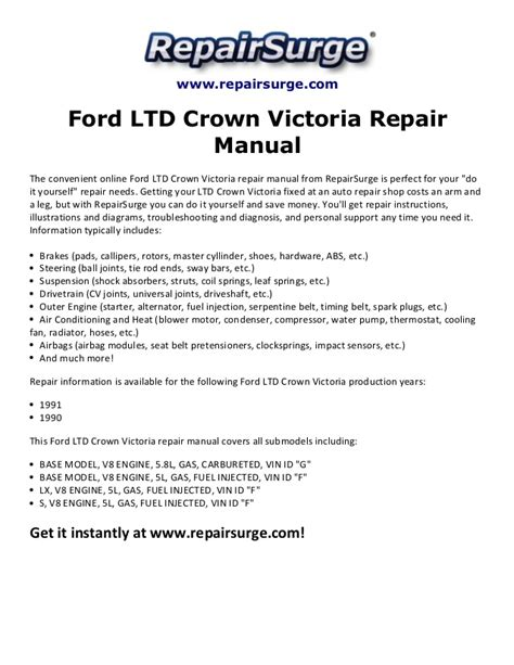 free auto repair manuals 1999 ford crown victoria seat position control ford crown victoria manual conversion