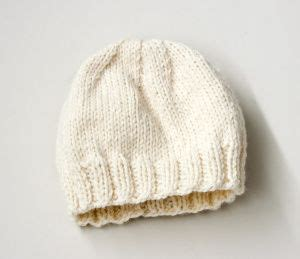 free knitting pattern childs hat child s simple knit hat knittin stuff