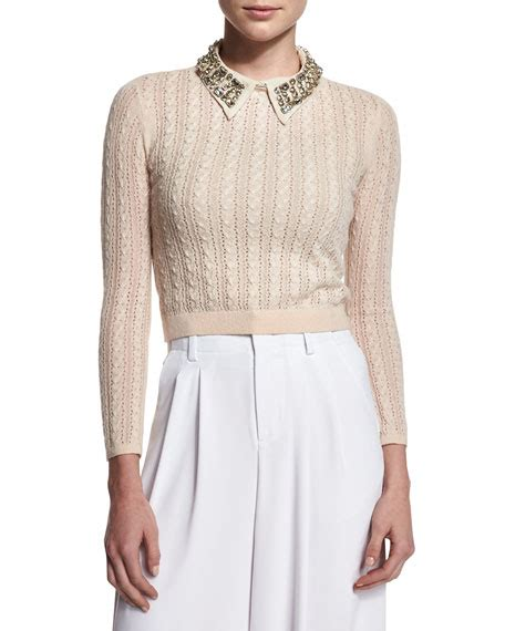 cropped cable knit sweater tamsin cropped cable knit sweater