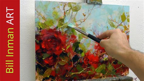 fast flower painting how to paint roses painting demo fast motion