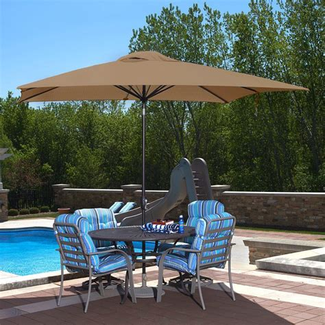 rectangular patio umbrella island umbrella caspian 8 ft x 10 ft rectangular market