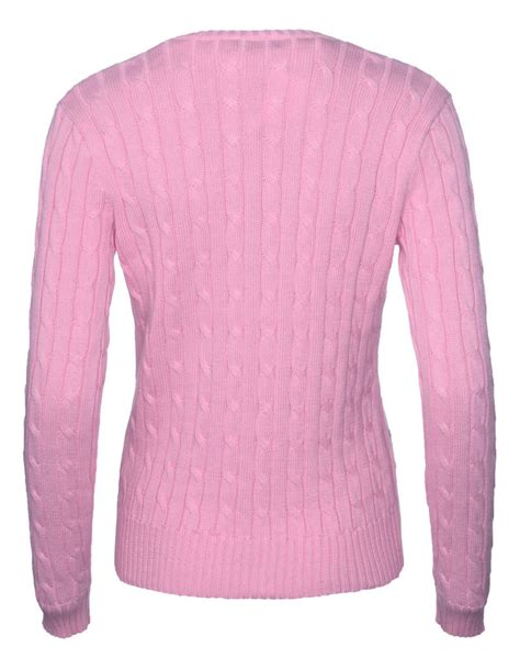 ralph womens knitted jumper ralph s polo cable knit v neck jumper