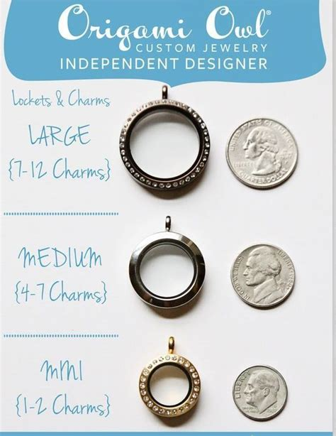 origami size origami owl locket size comparison how big how many