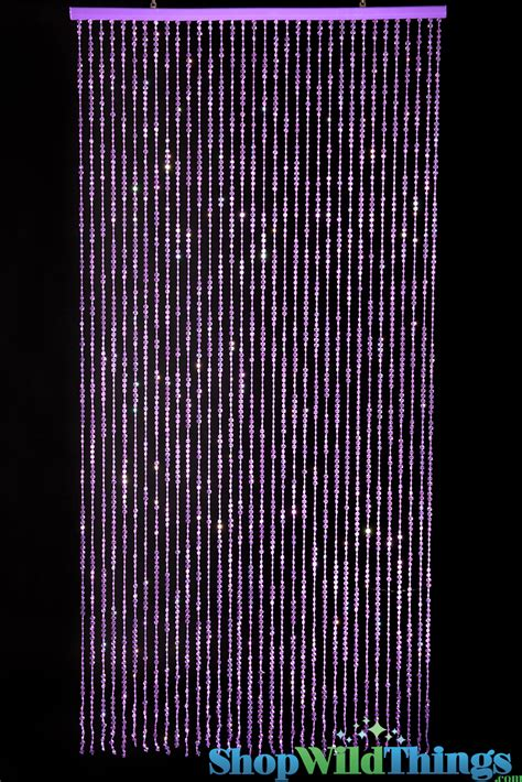 beaded curtains for room decor purple curtains with purple