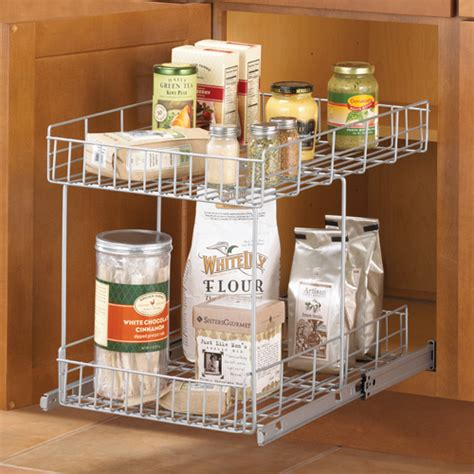 pull out kitchen cabinet organizers slide out cabinet organizer basket silver in pull out