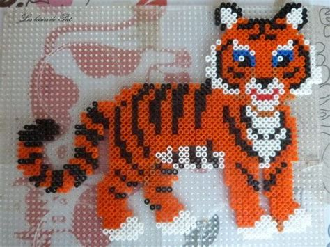 hama tiger 8 best images about hama dyr on perler bead