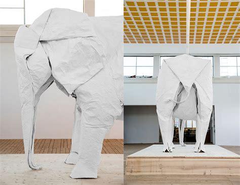 white elephant origami artist sipho mabona successfully folds sized origami