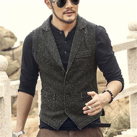 knitted suit waistcoat casual slim dress suit vest