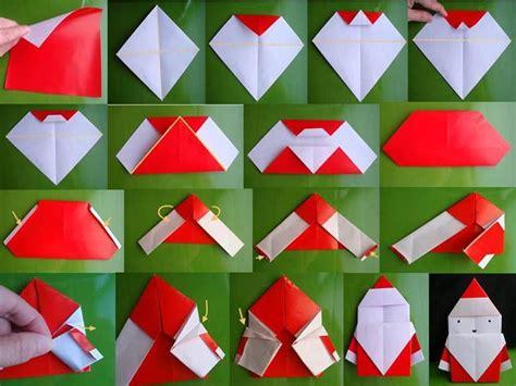 origami santa wonderful diy mini origami santa