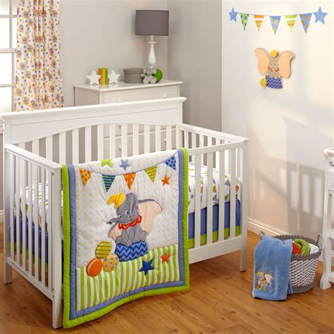 dumbo 3 crib bedding set disney baby