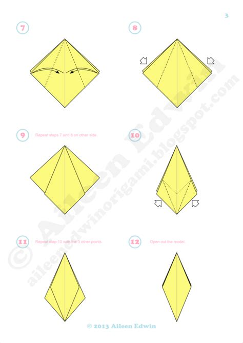 lilly origami free coloring pages aileen edwin origami 3 petal origami