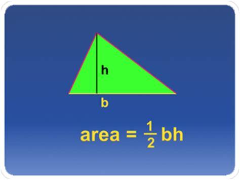 the area area of a triangle