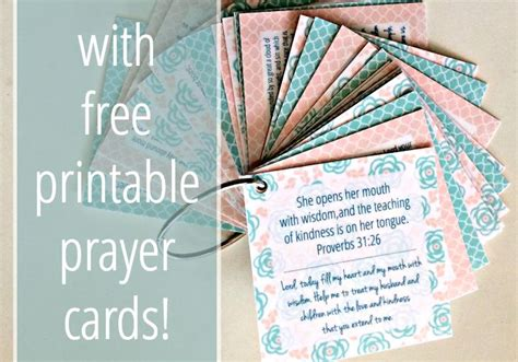 how to make prayer cards 31 days of praying for your family intentional