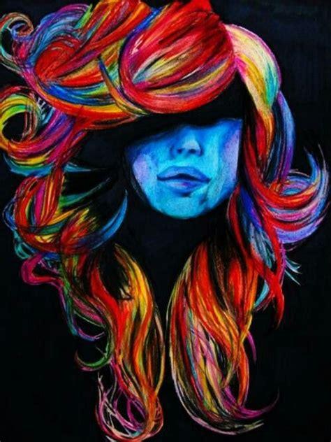 acrylic paint hair dye colorful hair painting hair