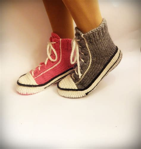 knitted converse slippers pattern gray converse slippers crochet converse knitted converse
