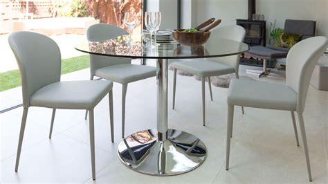 dining tables for 4 modern glass table chrome pedestal 4 seater table