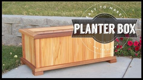 build your own planter box how to build a planter box diy easy to make