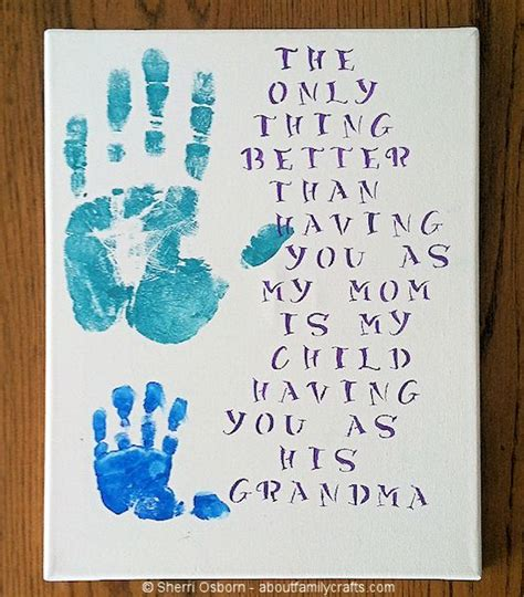 handprint gift for grandparents about family crafts