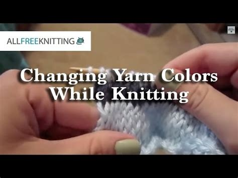 how to change yarn colors when knitting in the how to change yarn colors when knitting