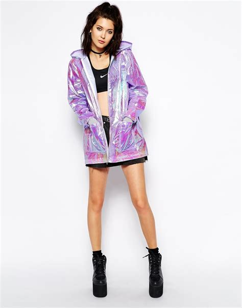 Vintage Kitchen Knives the ragged priest hooded festival rain holographic jacket