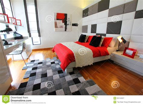 how to set up your bedroom furniture clean modern bedroom royalty free stock photography
