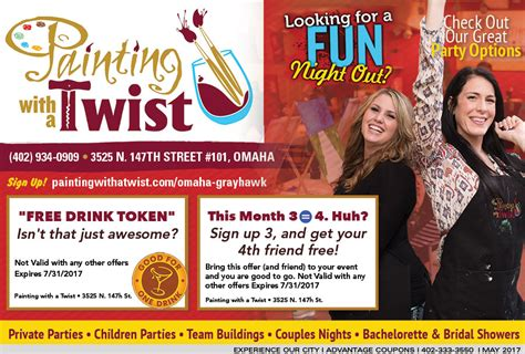 paint with a twist discount entertainment savings in omaha with advantage