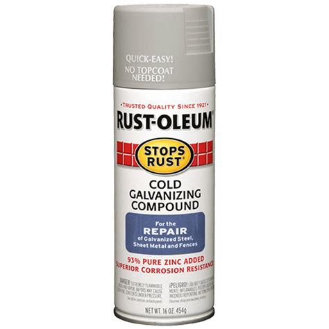 spray painting zinc coated steel stops rust 174 cold galvanizing compound spray product page
