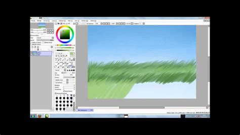 paint tool sai grass how to draw grass
