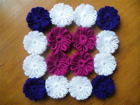 woollen crafts for woollen flowers without crochet